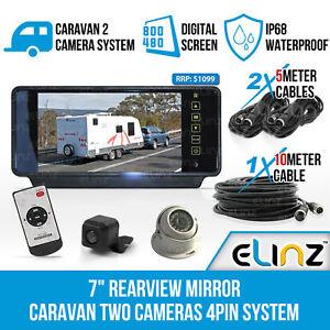 7-034-Rear-view-Mirror-Monitor-Caravan-2-Reversing-Camera-Reverse-4PIN-System-Kit