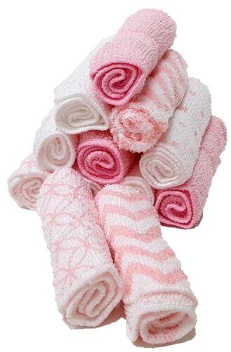 Waschtücher 12er pack Baby Waschlappen Handtücher 100/% Baumwolle 12stück Rosa