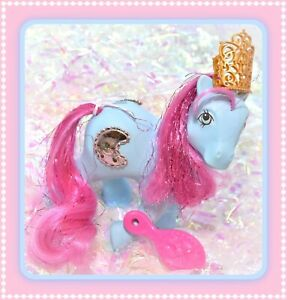 My-Little-Pony-MLP-G1-Vintage-Princess-ROYAL-BLUE-Sapphire-Tinsel-Moon-JEWEL