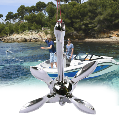 Stainless Steel 316 Boat Folding Grapnel Anchor 0.7KG For Marine Boat Yacht