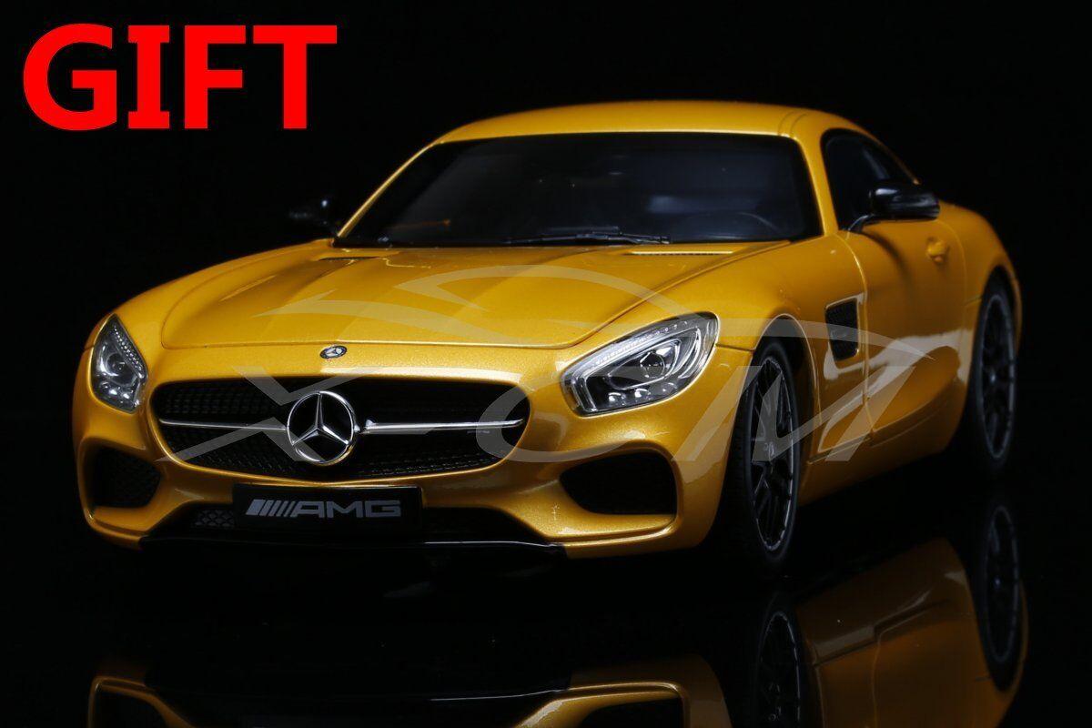voiture Model Norev Mercedes-Benz AMG GT  1 18 (jaune) + petit GIFT  réductions et plus