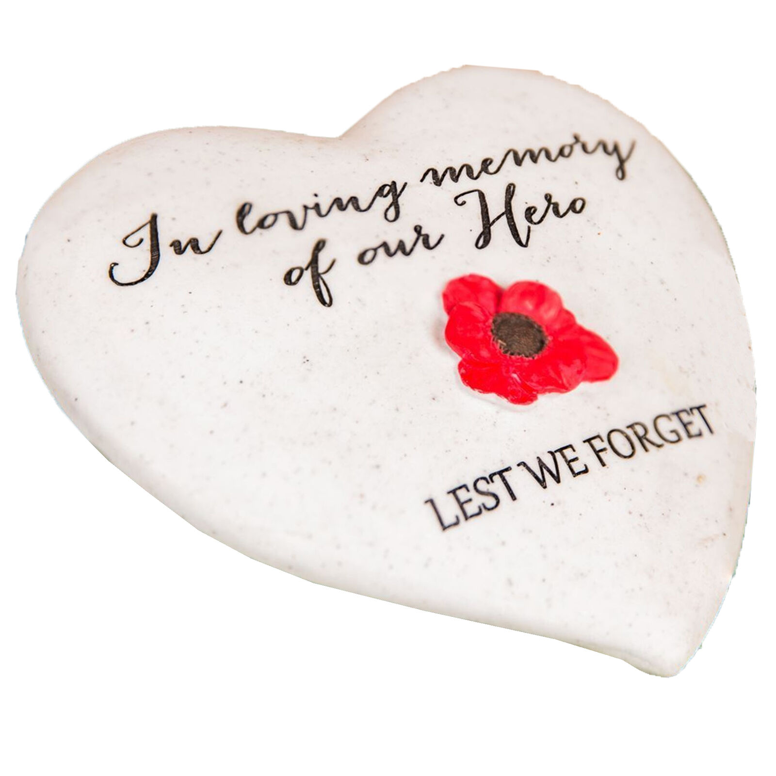 """Choose Design /""""Thoughts of You/"""" Lavender Stone Heart Memorial Plaque"""