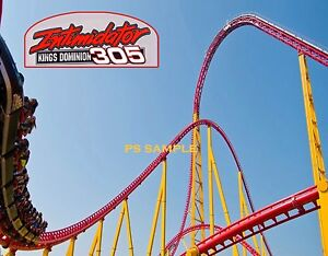 Details about Virginia - Kings Dominion INTIMIDATOR 305 Roller Coaster  Souvenir Fridge Magnet