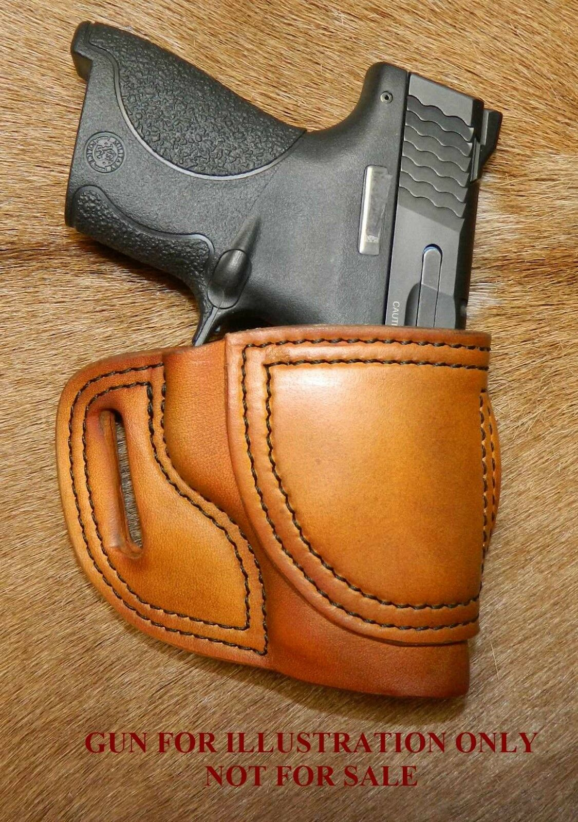 Gary C's Avenger  XH  OWB Right Hand HOLSTER S&W M&P Shield 40cal  9mm ; leather