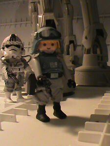 Playmobil Personnalisé Commandant At-at (star Wars V) Ref-0033 Bis