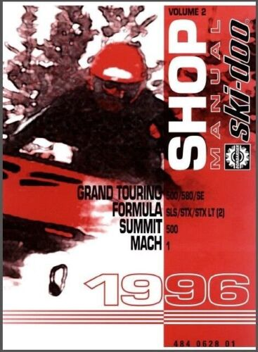 1996 Ski-Doo Grand Touring Formula Summit Mach Snowmobiles Service Manual on CD