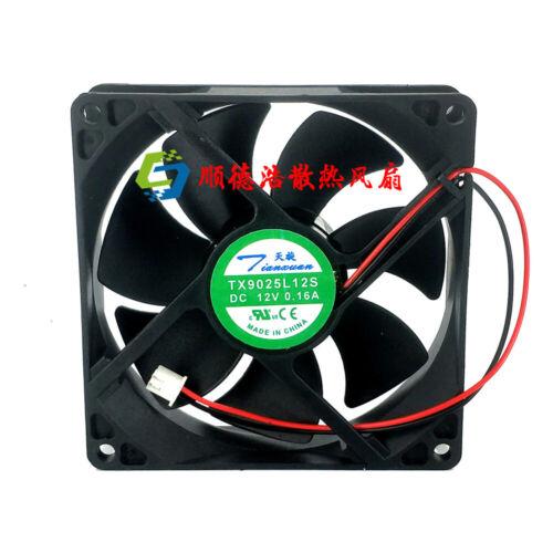 For Tian Xuan TX9025L12S DC 12V 0.16A 9CM 9025 2 Pin cooling fan