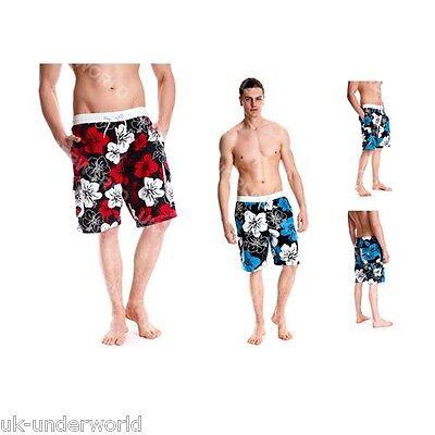 Mens Floral Beach Swim Shorts Surf Cargo Poly Lined Summer Beachwear