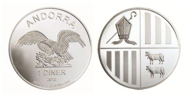 1 Diner Silber / Silver Andorra Eagle 1 OZ 2013