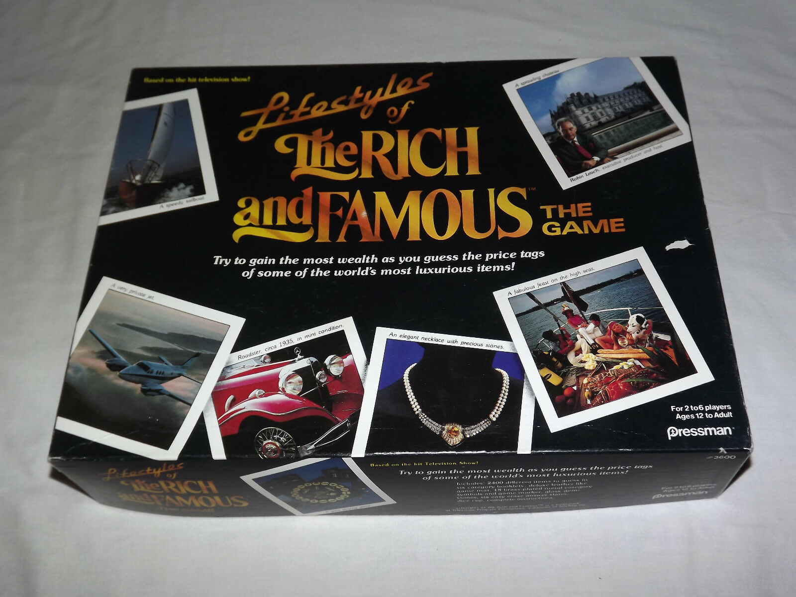 VINTAGE 1987 PRESSMAN TOY LIFESTYLES OF THE RICH and  FAMOUS GAME