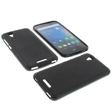 Tasche für Acer Liquid Z630 Handytasche Schutz Hülle TPU Gummi Case Schwarz