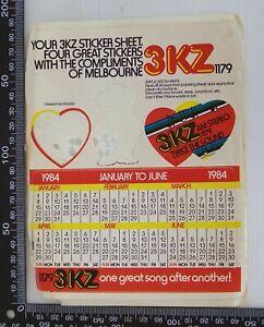 VINTAGE-3KZ-1179-AM-MELBOURNE-RADIO-AUSTRALIA-TWICE-THE-SOUND-1984-PROMO-STICKER