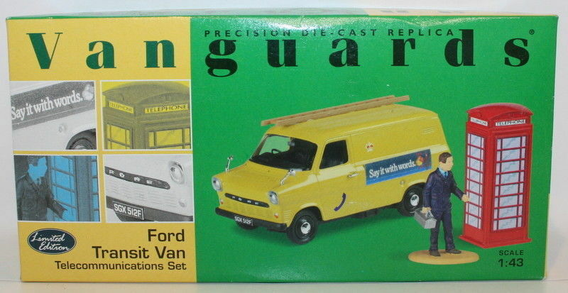 Vanguards 1 43 Scale VA06604 - Ford Transit Van Telecommunications Set