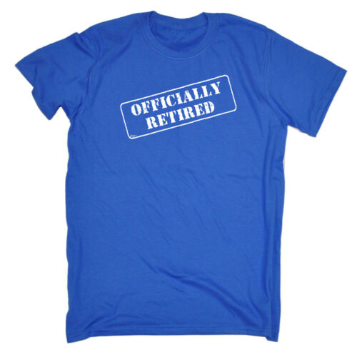 Officially Retired Funny Novelty T-Shirt Mens tee TShirt