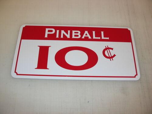 10 CENT PINBALL Metal Sign