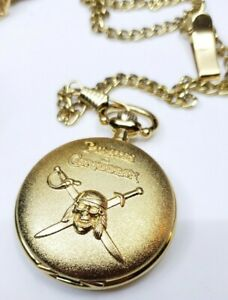 Disney-Premiere-PIRATES-of-the-CARIBBEAN-Promotional-POCKET-WATCH-At-World-039-s-End