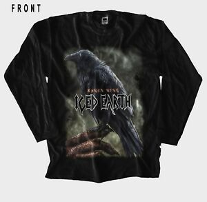 Image is loading ICED-EARTH-Raven-Wing-Heavy-metal-band-Black- 5bae1a5763