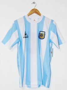 2f56418be Argentina WC 1986 Maradona Home Retro Shirt Napoli Boca Barcelona ...