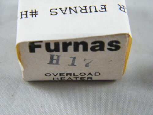 NEW ~ FURNAS ~ OVERLOAD HEATER ELEMENT ~  PART # H17 H-17