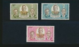 Laos-258-260-1975-Peace-Treaty-Agreement-Mint-NH-Complete-Set