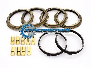 TR3650-Mustang-Cobra-GT-Carbon-Synchro-Blocker-Ring-amp-Bronze-Fork-Pad-Set