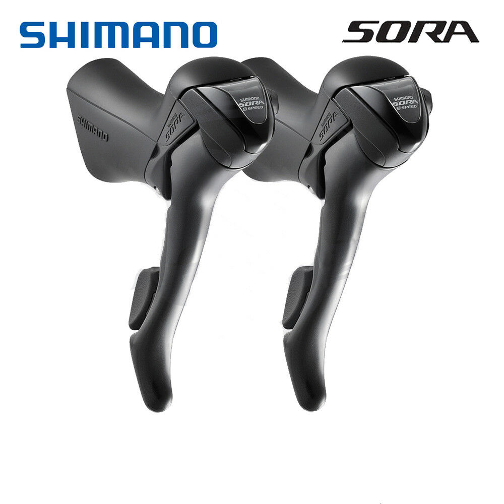 Shimano SORA ST-3500 Shift Brake Lever 2x9 Speed Left   Right   Pair w  Cables
