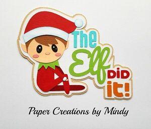 Craftecafe Mindy Christmas Elf Santa Title premade paper piece scrapbook