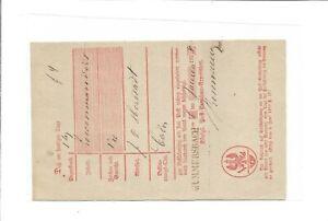 Prusse-Gummersbach-L1-Aptierter-L2-sur-Kabinett-Postschein-1858