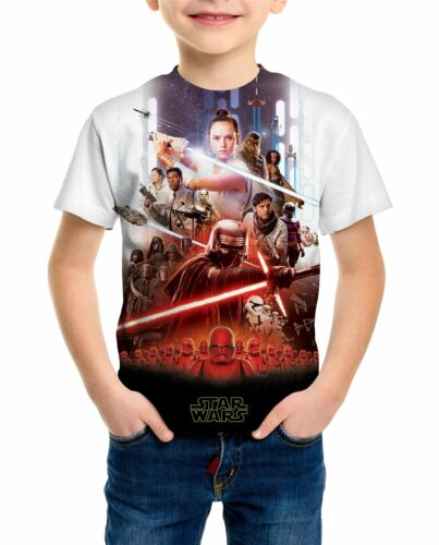 Star Wars Episode 9 The Rise of Skywalker Children/'s Unisex White T-Shirt