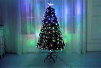 4ft 120cm Green Fibre Optic Multi Lights LED Christmas Xmas Tree Pre Lit Star
