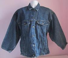 VTG 90s Ladies LEVI'S Reworked Tab Dark Blue Denim Jacket Size Extra Large (C1
