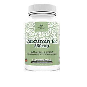 Kurkuma-BIO-Curcumin-amp-Bioperine-180-Kapseln-1300mg-Tagesportion-Beste-Qualitaet