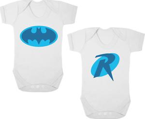 FidèLe Batman & Robin Drôle Twin Révélateurs/pousse/gilets/barboteuse Nouveau-né Cadeau Baby Shower-s/vests/rompers Newborn Gift Baby Shower Fr-fr Afficher Le Titre D'origine