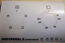 2 UNIVERSALE convezione cruscotto adesivi per indossato fronti, si adatta Lamona HJA3200
