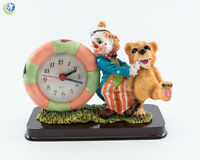Dental Office Dentist Figurine Decoration Clown & Standing Bear Patient W/ Clock