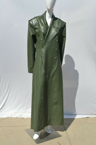 SYREN LATEX military double breasted latex trench