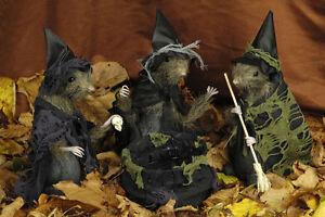 Halloween-Deko-3-Hexenratten-Hexe-Ratte-Kessel-Hexenkessel-Hexenbesen