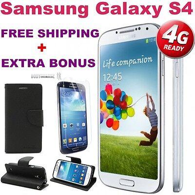 BRAND NEW Samsung Galaxy GENUINE S4 i9505 4G 16GB UNLOCKED *WHITE*+FREE GIFTS