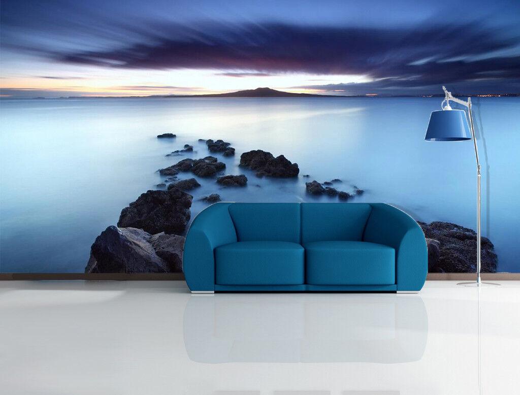 3D Stones Ocean Sky 74 Wall Paper Murals Wall Print Wall Wallpaper Mural AU Kyra