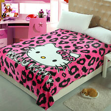 Cute lip Hello Kitty Warm Flannel Plush Soft Throw Blanket Bedding 150*200CM