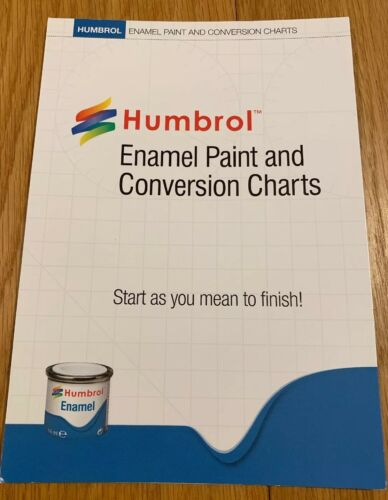 Humbrol P1158 Enamel Paint And Conversion Chart Ebay