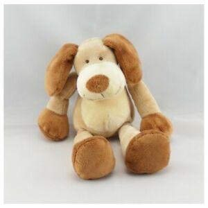 Doudou-chien-beige-marron-NICOTOY-22-cm-Chien-Loup-Renard-Classique