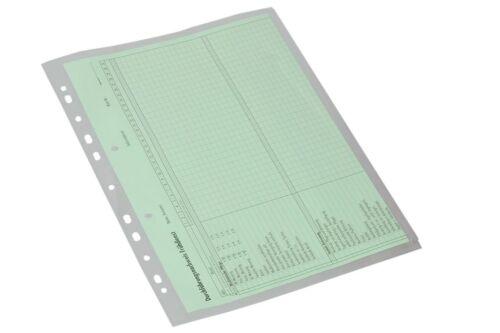 EICHNER 10x Dokumentenhülle mit Seitenklappe Hülle Prospekthülle Sichthülle