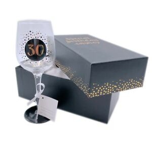 Birthday-Wine-Glass-Gift-Premium-Engraved-Piano-Black-Sparkle-Gift-Boxed-18-70th