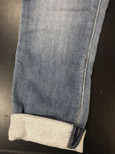 Cherokee Annabelle Cuffed Girls Size 6 Soft Knit Denim Skinny Crop Jeans NWT