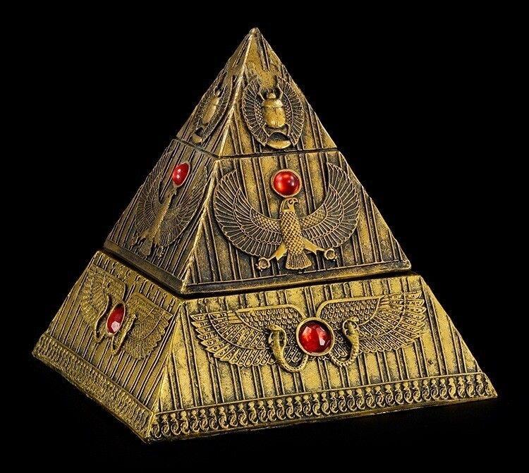 Pyramide Schatulle - Box Dose ägyptisch Ägypten Deko Figur