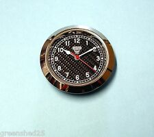 65mm BEZEL Quartz Clock insert Carbon fibre look dial
