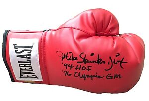 MICHAEL-SPINKS-SIGNED-GLOVE-INSCRIBED-COA-INSCRIPTAGRAPHS-LEON-BOXING-MIKE-TYSON