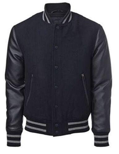 Original Windhound College  Jacke schwarz mit schwarzen Echtleder Ärmel L