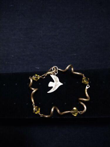 44 Ref EGPL  Signed French designer CECILE JEANNE gold plated angel earrings.